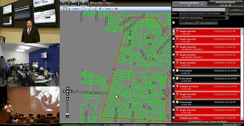 Shotspotter training console image